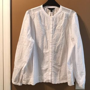 Like new J Crew eyelet blouse